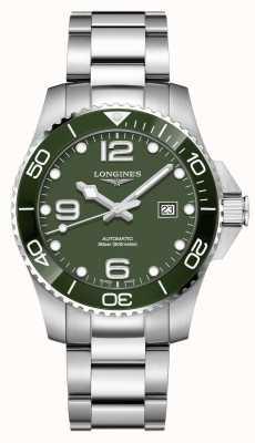 Longines Hydroconquest 43 mm automatisch | groene wijzerplaat | roestvrij staal L37824066