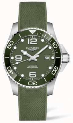 Longines Hydroconquest 43 mm | groene wijzerplaat | rubberen band L37824069