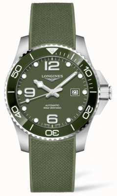Longines Hydroconquest 43mm | groene wijzerplaat | rubberen band L37824069
