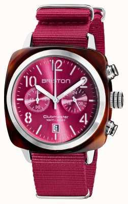 Briston Clubmaster klassieker chronograaf | 19140.SA.T.28.NBER