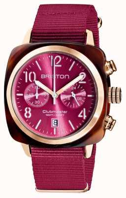 Briston Clubmaster klassieker chronograaf | 19140.PRA.T.28.NBER