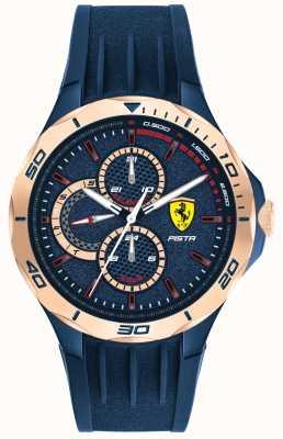 Scuderia Ferrari | heren pista | blauwe rubberen band | blauwe wijzerplaat | 0830724