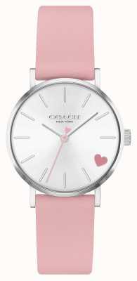 Coach | perry voor vrouwen | roze kuitband | zilveren wijzerplaat 14503518