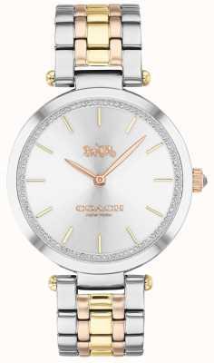 Coach | vrouwenpark | drievoudige stalen armband | zilveren wijzerplaat 14503508
