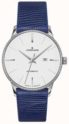 Junghans Meister dames automatisch blauw leer 027/4046.00