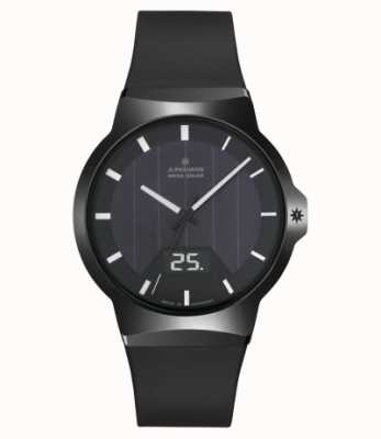 Junghans Force mega solar zwarte rubberen band 018/1000.00