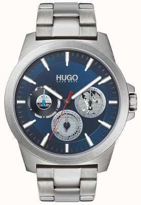 HUGO #twist | roestvrijstalen armband | blauwe wijzerplaat 1530131