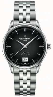Certina Ds-1 grote date | powermatic 80 | roestvrij stalen armband C0294261105100