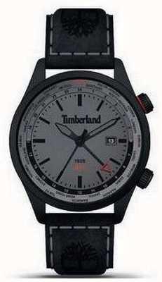 Timberland Heren | malden | gmt | zwart leren band | grijze wijzerplaat 15942JSB/13