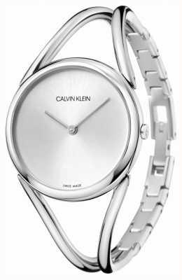 Calvin Klein | dame | roestvrijstalen armband | zilveren wijzerplaat | KBA23126