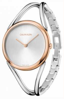 Calvin Klein Dame | roestvrijstalen armband | zilveren wijzerplaat | KBA23626