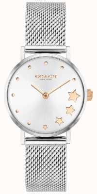 Coach | perry voor vrouwen | zilveren mesh armband | zilveren wijzerplaat | 14503519