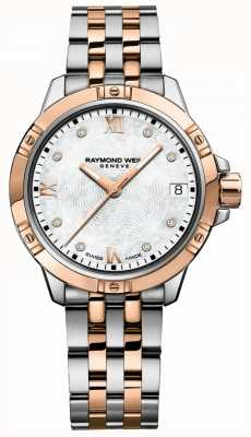 Raymond Weil | vrouwen tango | tweekleurige stalen armband | parelmoer 5960-SP5-00995