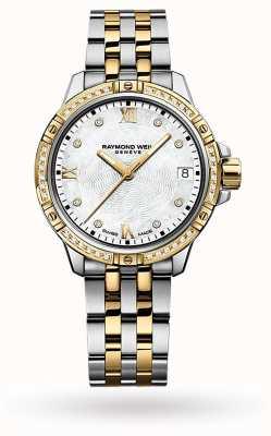 Raymond Weil tango voor vrouwen | tweekleurige stalen armband | parelmoer 5960-SPS-00995
