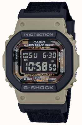 Casio G-shock | zwarte riem | digitaal | stop horloge DW-5610SUS-5ER