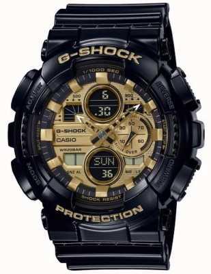 Casio G-shock wereldtijd | zwarte rubberen band | GA-140GB-1A1ER
