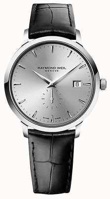 Raymond Weil Heren | toccata | zwart leren band | zilveren wijzerplaat 5484-STC-65001