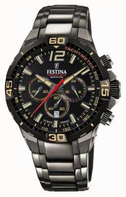 Festina Chrono bike 2020 limited edition grijze stalen armband F20527/1