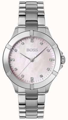 BOSS | minisport voor dames | zilveren stalen armband | zilveren wijzerplaat | 1502469