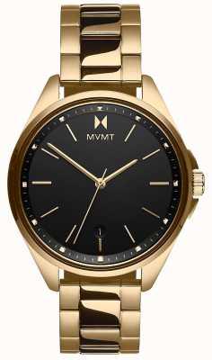 MVMT | coronada voor vrouwen | goudkleurige stalen armband | zwarte wijzerplaat 28000005-D