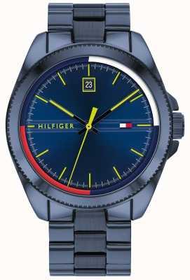 Tommy Hilfiger Riley | blauwe ip stalen armband | blauwe wijzerplaat 1791689