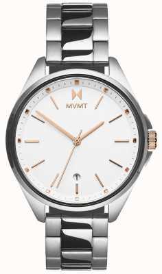 MVMT | coronada voor vrouwen | roestvrijstalen armband | witte wijzerplaat 28000001-D