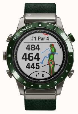 Garmin Marq golfer | groene nylon band en dennengroene rubberen band 010-02395-00