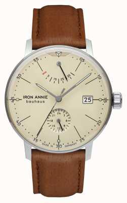Iron Annie Bauhaus | automatisch | lichtbruine leren band | beige wijzerplaat 5060-5
