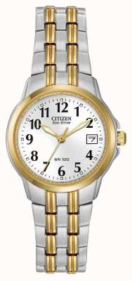 Citizen Dames two tone vergulde kast en band eco-rijden EW1544-53A