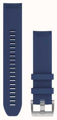 Garmin Quickfit 22 marq marineblauwe rubberen band 010-12738-18
