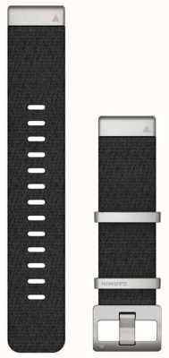 Garmin Quickfit 22 marq zwarte jacquard geweven band 010-12738-21
