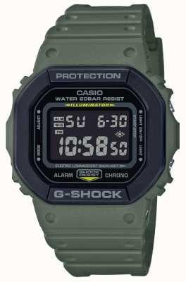 Casio G-schok | groene rubberen band | digitaal beeld DW-5610SU-3ER