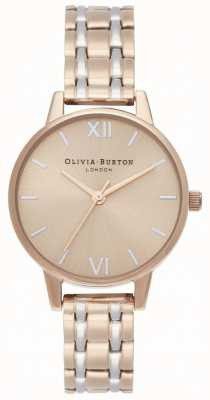 Olivia Burton | de engeland collectie | tweekleurige stalen armband | OB16EN02