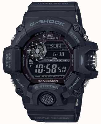 Casio G-shock rangeman | blackout stoere zonneradio gestuurd | GW-9400-1BER