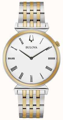 Bulova Heren | regatta | tweekleurige roestvrijstalen armband | 98A233