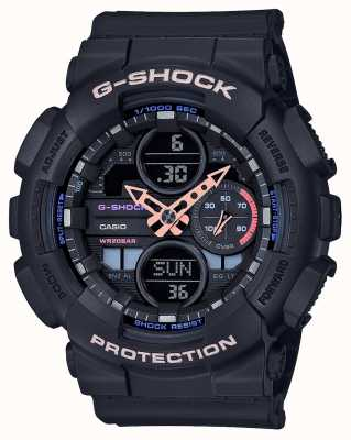 Casio G-shock unisex veelkleurige wijzerplaat | zwarte band GMA-S140-1AER