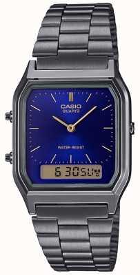 Casio Heren vintage roestvrijstalen armband AQ-230EGG-2AEF