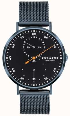 Coach Charles blauw mesh armbandhorloge 14602478
