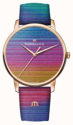 Maurice Lacroix Eliros regenboog limited edition   regenboog lederen band EL1118-PVP01-090-1