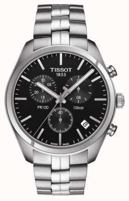 Tissot Pr 100 | chronograaf | zwarte wijzerplaat T1014171105100
