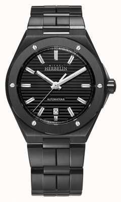 Michel Herbelin Herenpet camarat | automatisch | zwarte stalen armband 1645/BN14