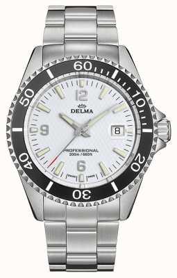 Delma Santiago quartz | roestvrijstalen armband | witte wijzerplaat 41701.562.6.014