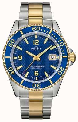 Delma Santiago quartz | tweekleurige stalen armband | blauwe ring 52701.562.6.044
