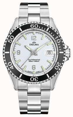 Delma Santiago automaat | roestvrijstalen armband | witte wijzerplaat 41701.560.6.014
