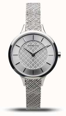 Bering Dames klassiek | gepolijst zilver | zilveren mesh armband 17831-000
