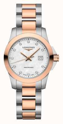 Longines | verovering klassiek | vrouwen | Zwitserse kwarts | twee toon L33763887