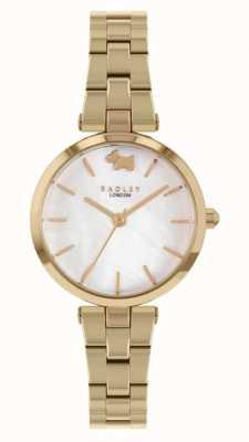 Radley West uitzicht | goudkleurige stalen armband | witte wijzerplaat RY4512