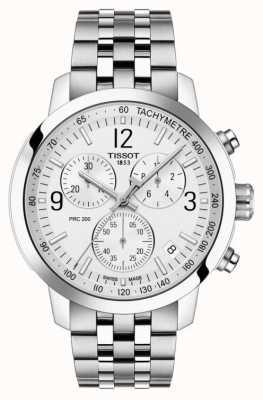 Tissot Prc 200   chronograaf   witte wijzerplaat   roestvrij staal T1144171103700