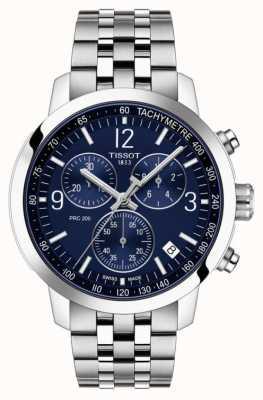 Tissot Prc 200 | chronograaf | blauwe wijzerplaat | roestvrij stalen band T1144171104700