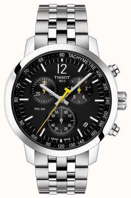 Tissot Prc 200 | chronograaf | zwarte wijzerplaat | roestvrij staal T1144171105700
